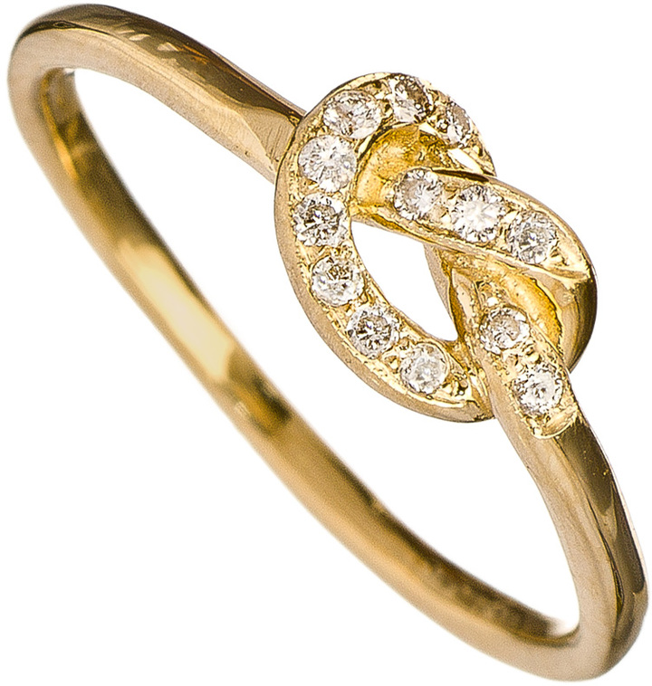Ariel Gordon Love Knot Ring with Diamonds