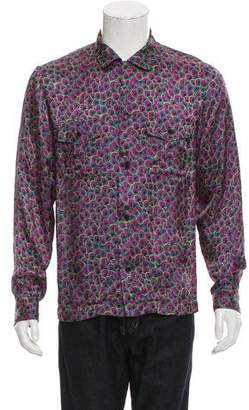 Dries Van Noten Abstract Print Button-Up Shirt
