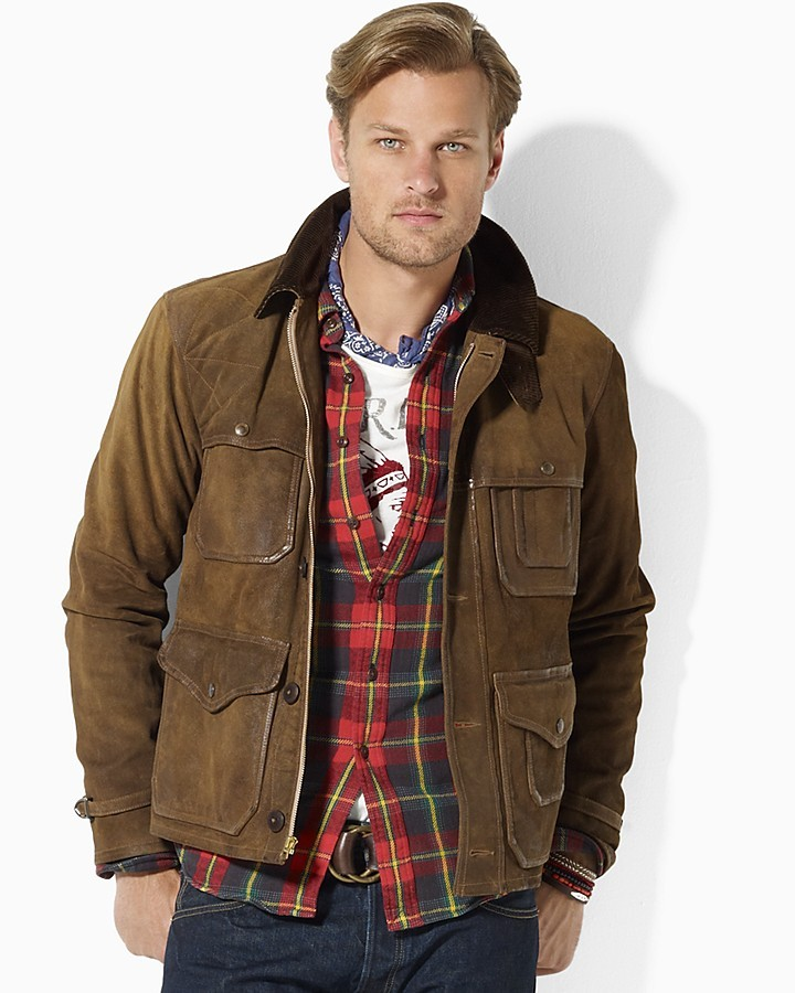 Polo Ralph Lauren Elk Leather Thicket Jacket