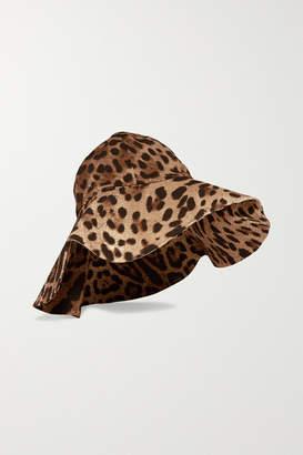 Dolce & Gabbana Leopard-print Canvas Hat - Leopard print