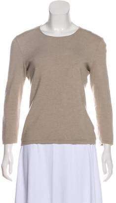 Oscar de la Renta Cashmere & Silk-Blend Sweater
