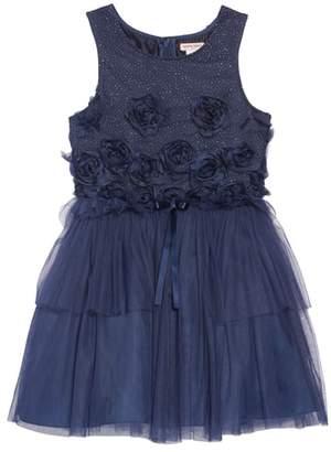 Nanette Lepore 3D Flower Glitter Tulle Dress