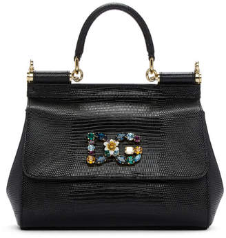 Dolce & Gabbana Black Small Miss Sicily Bag