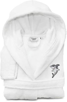 Asstd National Brand Linum Kids 100% Turkish Cotton Hooded Terry Bathrobe - Shark