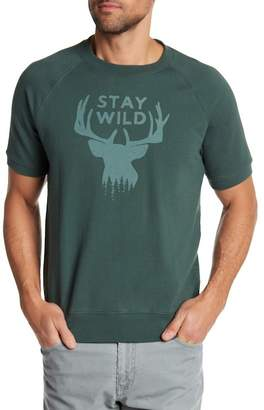 Michael Bastian Stay Wild Graphic Print Tee Shirt Sweater