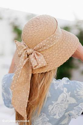 Urban Outfitters Textured Straw Cloche Hat