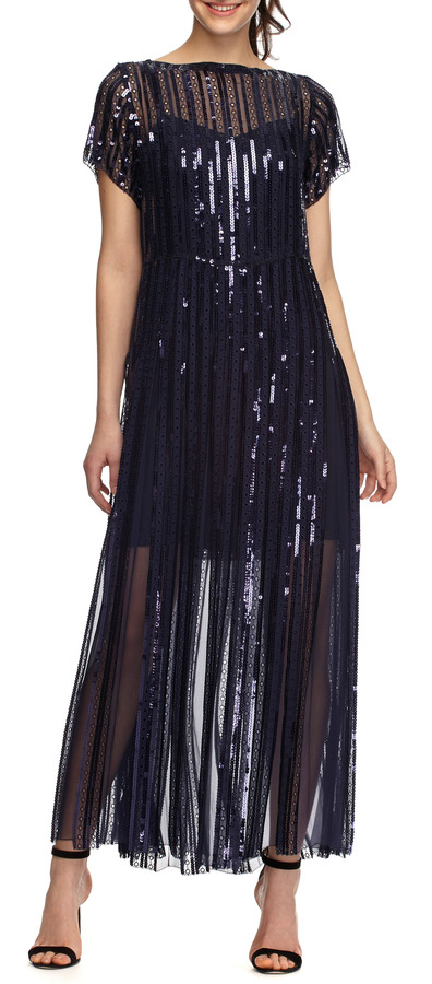 Marc Jacobs Sequined and Embroidered Pleated Midi Dress