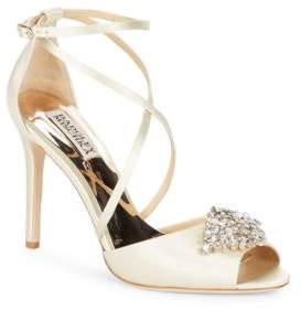 Badgley Mischka Tatum Satin Stiletto Heel Sandals