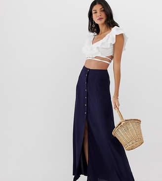 Asos Tall DESIGN Tall button front maxi skirt