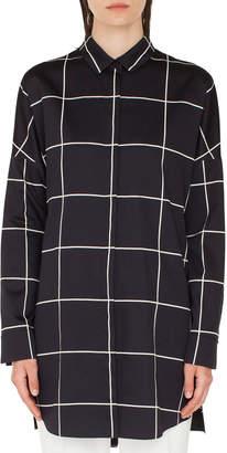 Akris Punto Big Grid Button-Front Tunic