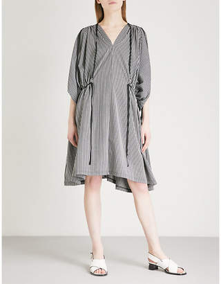Limi Feu Gathered striped cotton-blend dress
