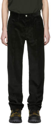 Kenzo Green Corduroy Memento Straight-Cut Trousers