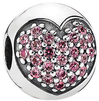 Pandora Silver Cz Pink Love Of My Life Clip Charm