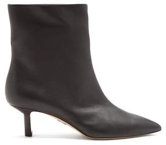 Paul Andrew - Mangold Grained Leather Ankle Boots - Womens - Black