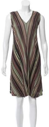 Pleats Please Issey Miyake Striped Plissé Dress