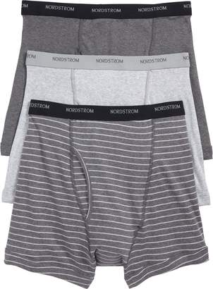 Nordstrom 3-Pack Supima(R) Cotton Boxer Briefs