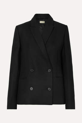 By Malene Birger Rivali Double-breasted Twill Blazer - Black