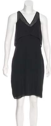 Alexander Wang Silk Mesh Accent Dress