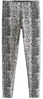 MANGO Snake print leggings