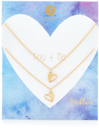 Gorjana You + Me Heart Necklace Set $85 thestylecure.com