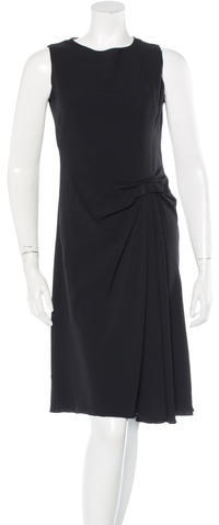 prada Prada Sleeveless Pleat Dress