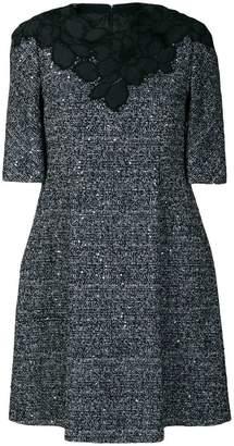 Talbot Runhof embellished tweed dress