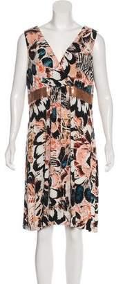Calvin Klein Printed Sleeveless Dress