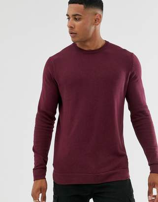 ONLY & SONS crew neck sweater in red