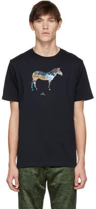 Paul Smith Navy Graffiti Zebra T-Shirt