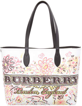 Burberry Medium Reversible Doodle Tote