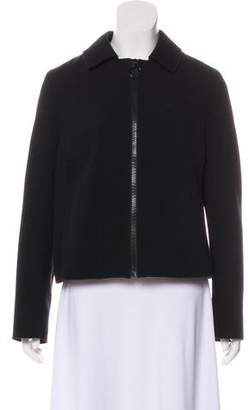 Akris Punto Pleated Casual Blazer