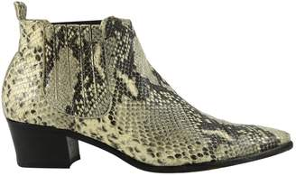 Modern Vice Beige Python Ankle boots