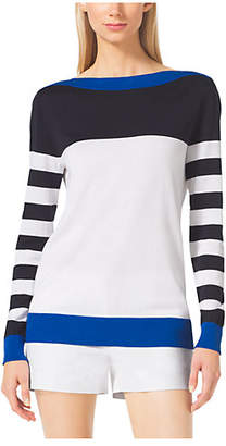 Michael Kors Striped Boatneck Sweater