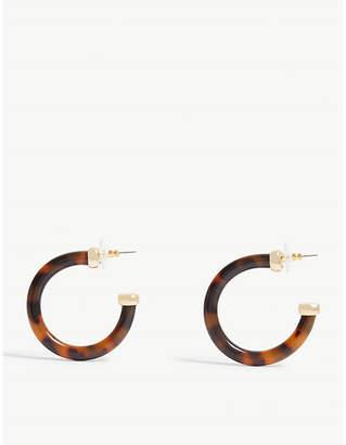 BaubleBar Taiya resin hoop earrings