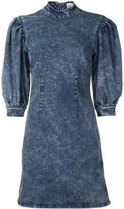 Ganni bleached denim dress
