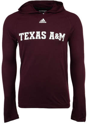 adidas Men Texas A & M Aggies Mark My Words Long Sleeve Hooded T-Shirt