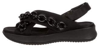 Burberry Actonshire Chain-Link Sandals