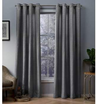 Exculsive Home Exclusive Home Whitby Metallic Slub Yarn Textured Silk Look Window Curtain Panel Pair with Grommet Top