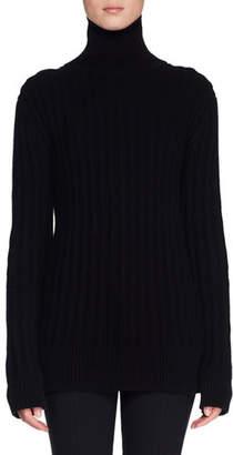 The Row Marton Turtleneck Long-Sleeve Cashmere Sweater