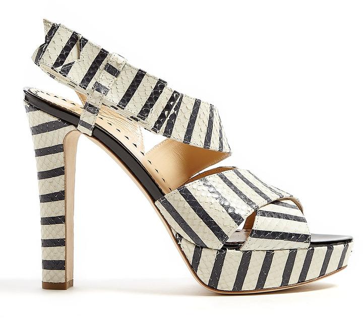 Moschino Cheap & Chic Stripe Bow Detail Platform Sandals