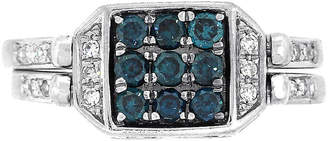 One Kings Lane Vintage Blue & White Diamond Reversible Ring - Raymond Lee Jewelers