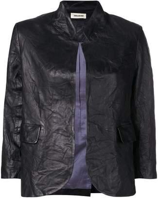 Zadig & Voltaire Zadig&Voltaire creased effect leather jacket