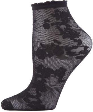Natori Floral Lace Ankle Socks