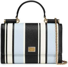 Dolce & Gabbana Striped Textured-Leather Phone Case