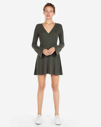 Express Cozy Plush Jersey Fit And Flare Dress
