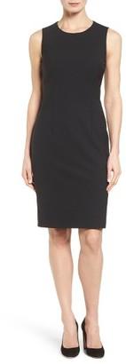 Women's Boss Dirusa Sleeveless Stretch Wool Sheath Dress $495 thestylecure.com