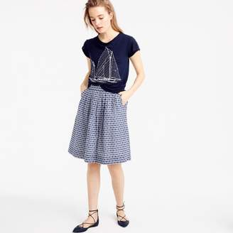 J.Crew Pull-on skirt in gingham clip dot