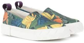 Eytys Viper printed slip-on canvas sneakers