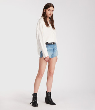 AllSaints Nyla High-Waisted Shorts