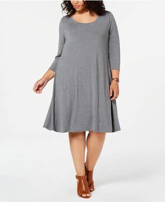Style&Co. Style & Co Plus Size Scoop Neck Swing Dress